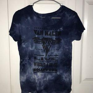 Distressed Van Halen Band Tee